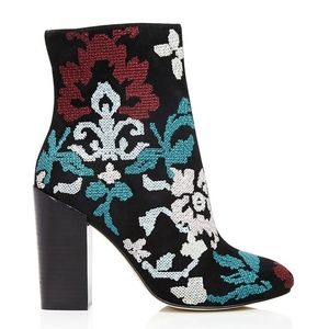 Rebecca Minkoff BoJana Embroidered Suede Boot